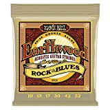 Ernie Ball Earthwood Rock y Blues w/Plain G 80/20 Cuerdas de guitarra...